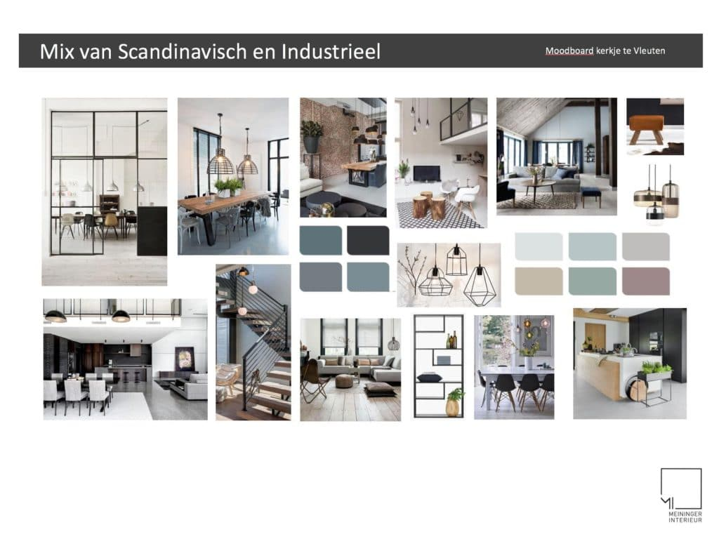 Mix van scandinavisch en industrieel