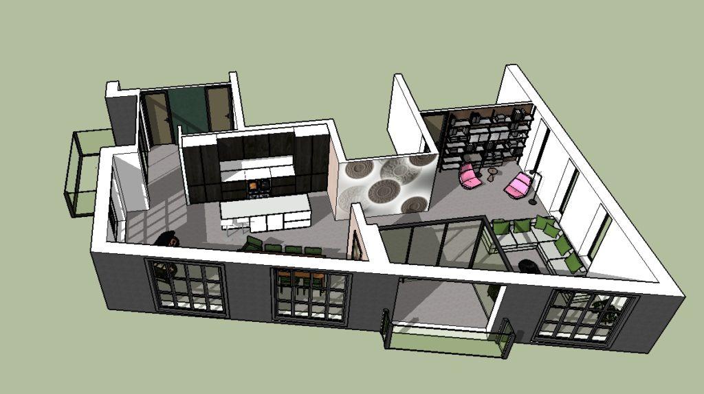 Interieuradvies 3d tekening